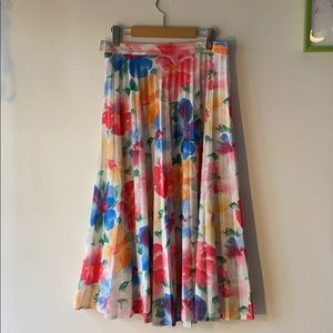 Floral, Pleated Skirt